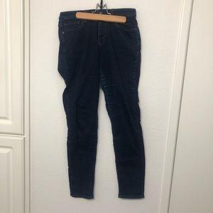 EUC Uniqlo Dark Blue Stretchy Skinny Ezy Jeans szL